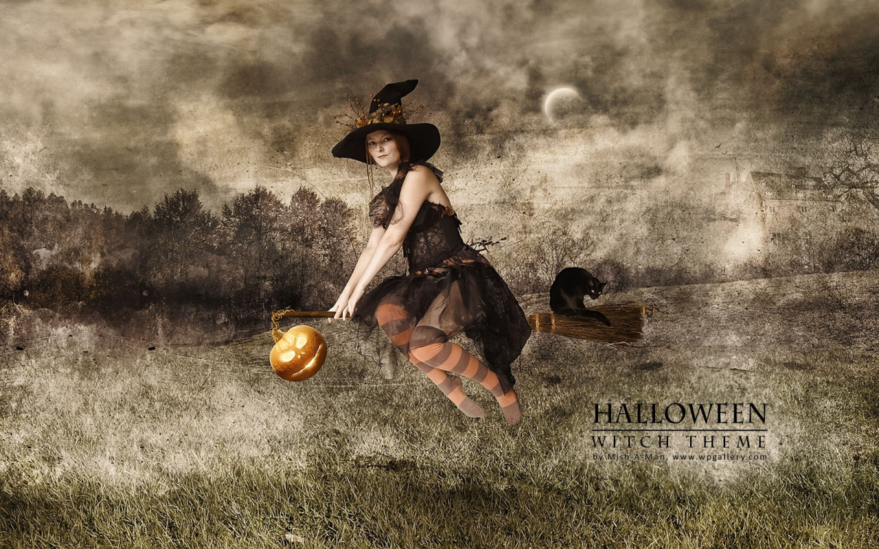 Halloween - Witch theme for 1280 x 800 widescreen resolution