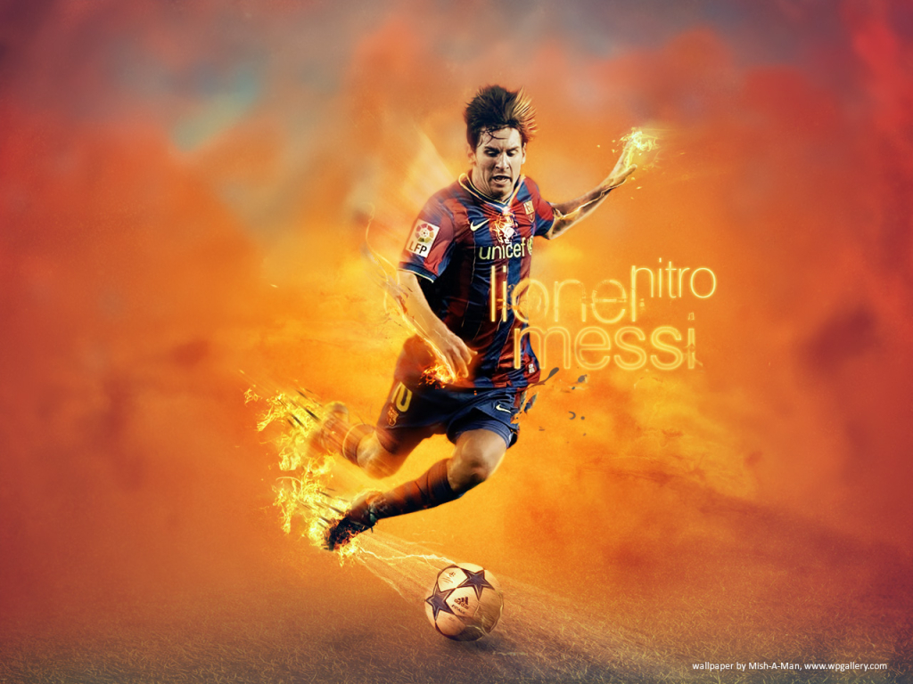 Lionel Messi for 1024 x 768 resolution