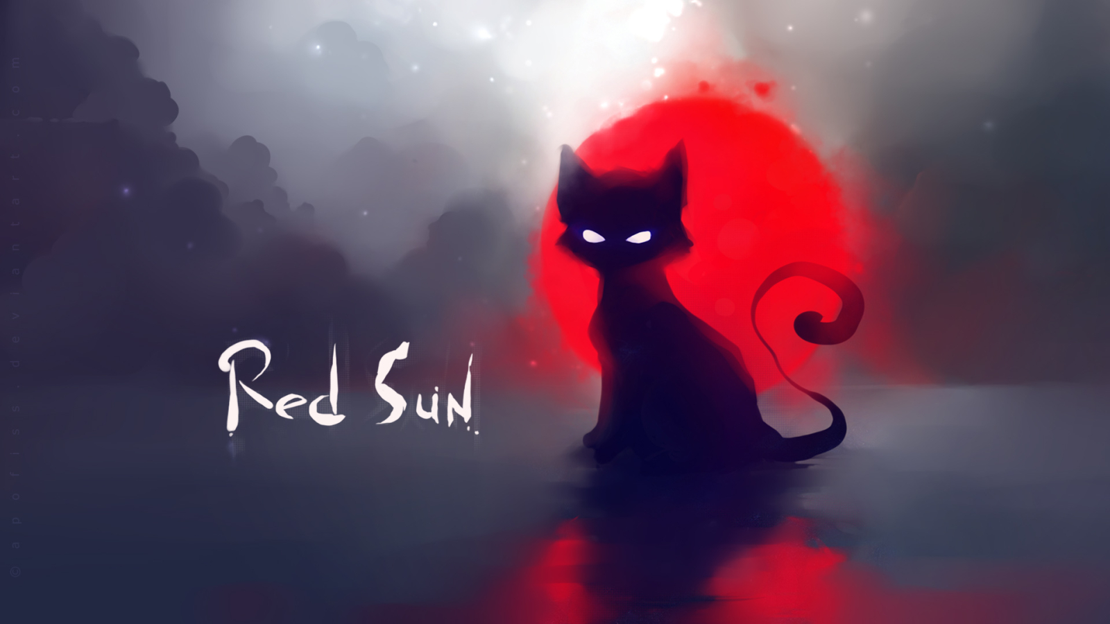 Red Sun for 1600 x 900 HDTV resolution