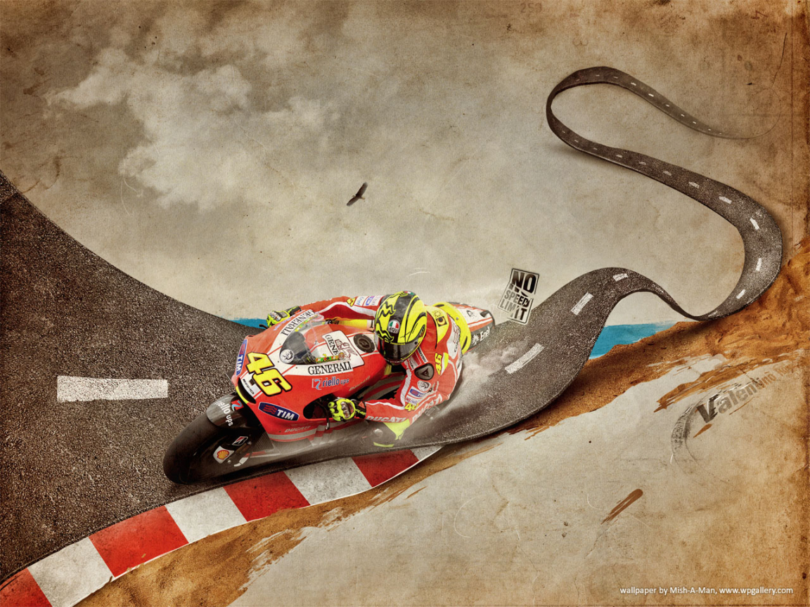 Valentino Rossi for 1152 x 864 resolution