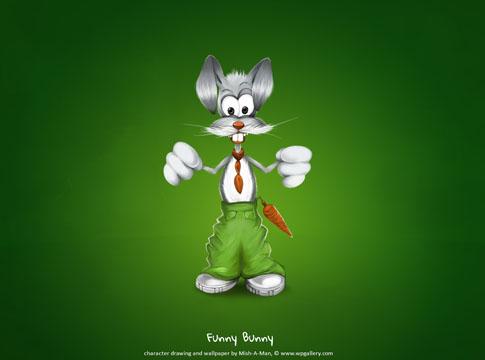 Funny Bunny Wallpaper