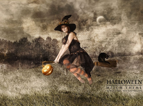Witch Halloween wallpaper