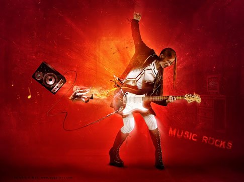 Music Rocks by Mish-A-Man