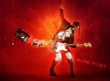 Music Rocks Wallpaper