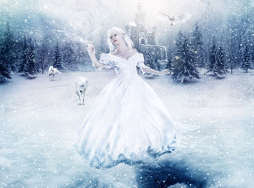 Winter Princess Wallpaper