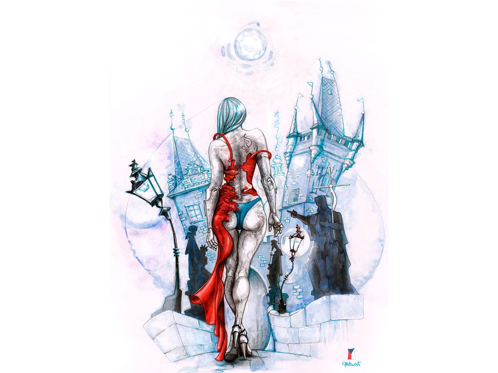Red dress by zharko