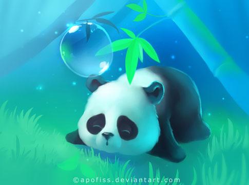 Bamboo Panda paper by Apofiss